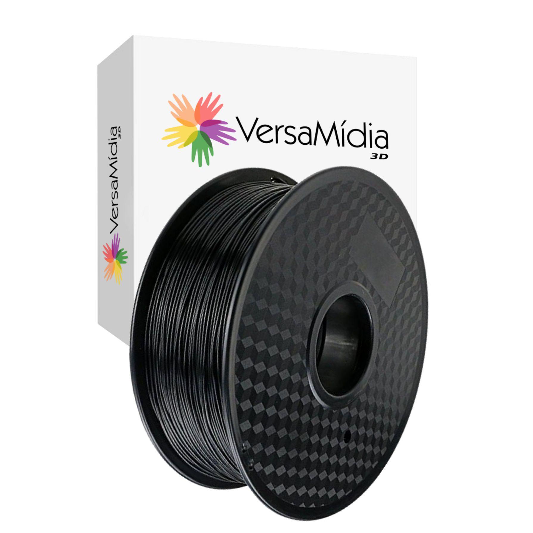 Filamento PLA  VersaMídia 3D Classic Colours  1.75mm 1Kg  3D BlackSpool cod. 11503, 11504 ou 11514