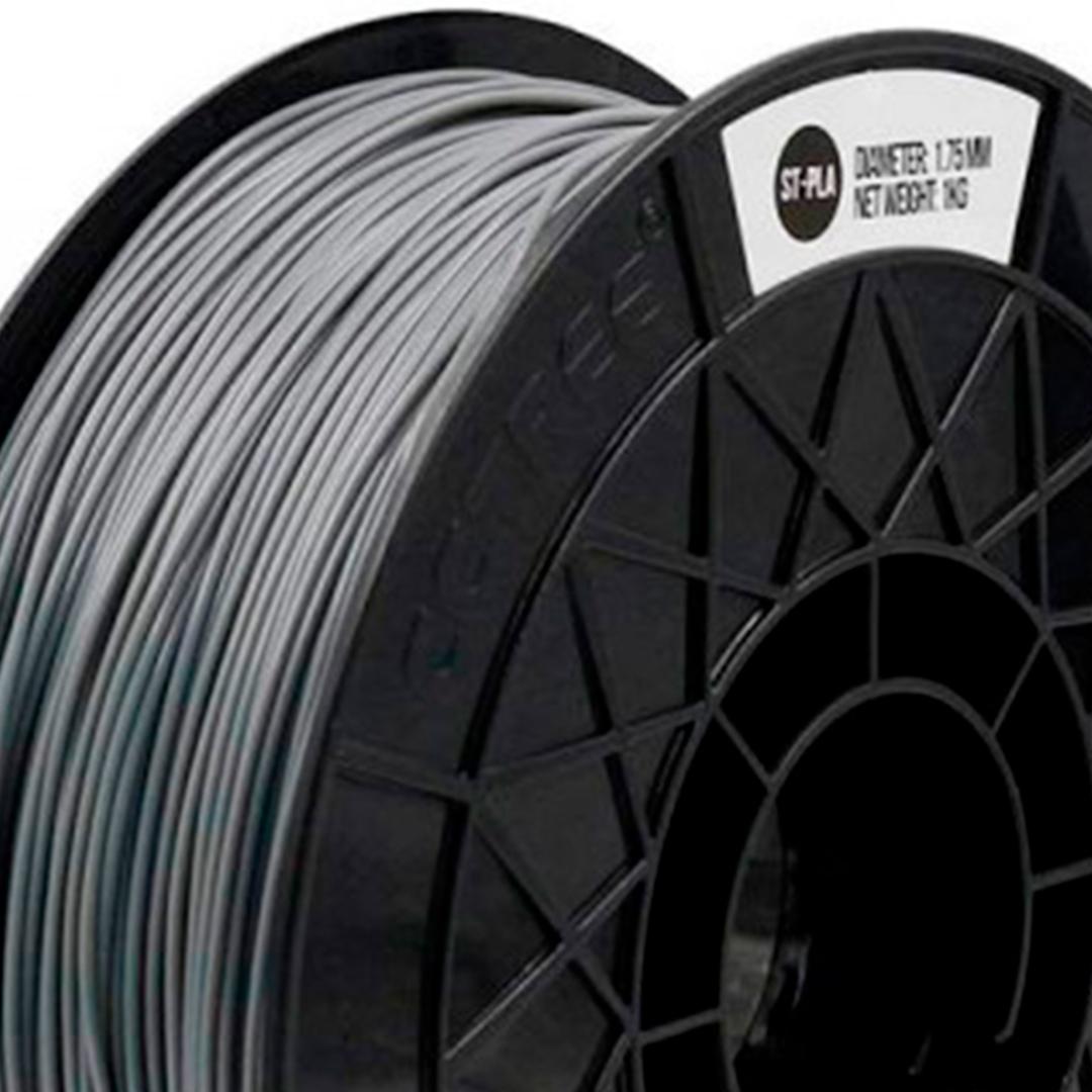 Filamento ST-PLA Prata ( Silver Gray ) 1.75 1Kg