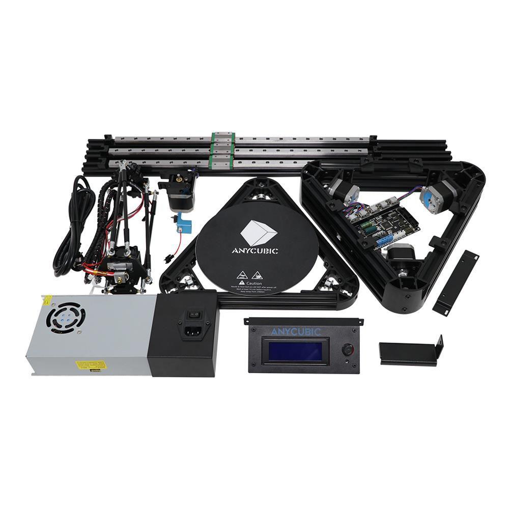 Impressora 3D Anycubic  Delta Kossel  - Polia  - Nivelamento Automático - PLA, ABS, PETG, Aditivados - Montada, Regulada, Testada - Pronta para utilização.