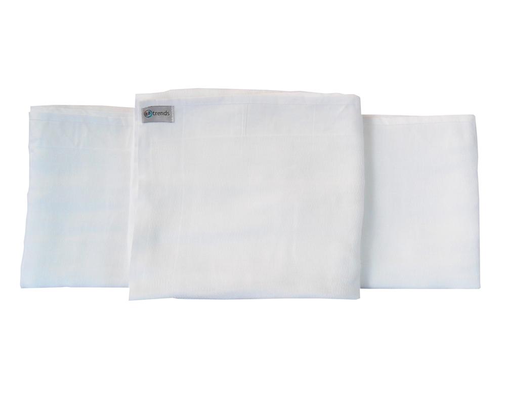 Toalha Fralda Luxo Branca com Bainha - BBtrends