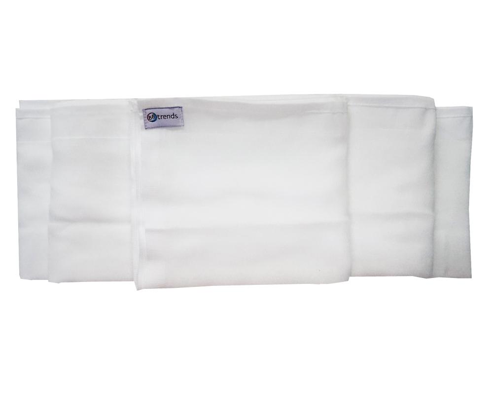 Fralda Luxo Branca com Bainha - BBtrends