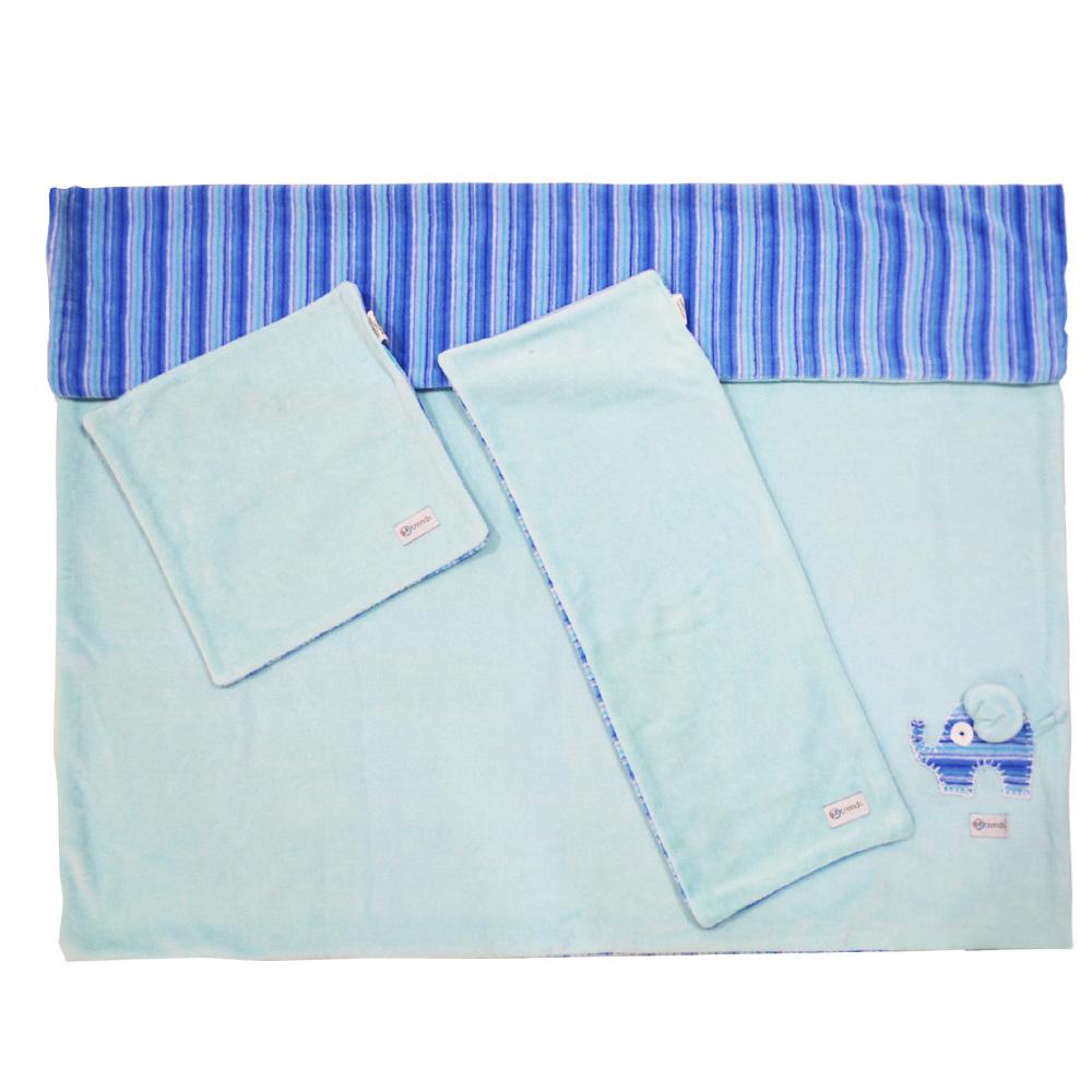 Kit Soft - 3 Peças Elefante Azul - BBtrends