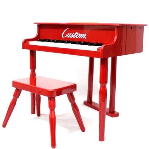 Piano de Cauda Infantil Vermelho - Custom