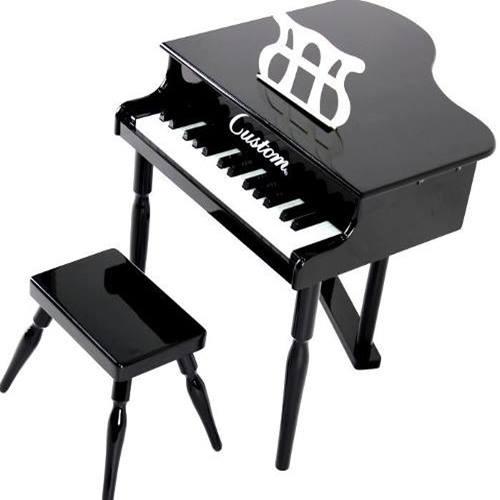 Piano de Cauda Infantil Preto - Custom
