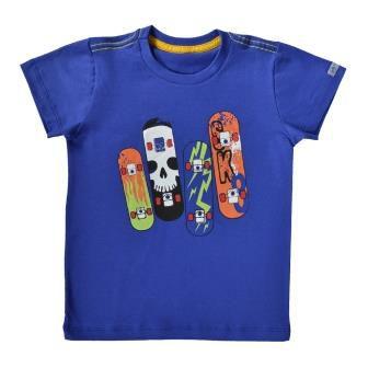 Camiseta Funny Skate Azul Escuro