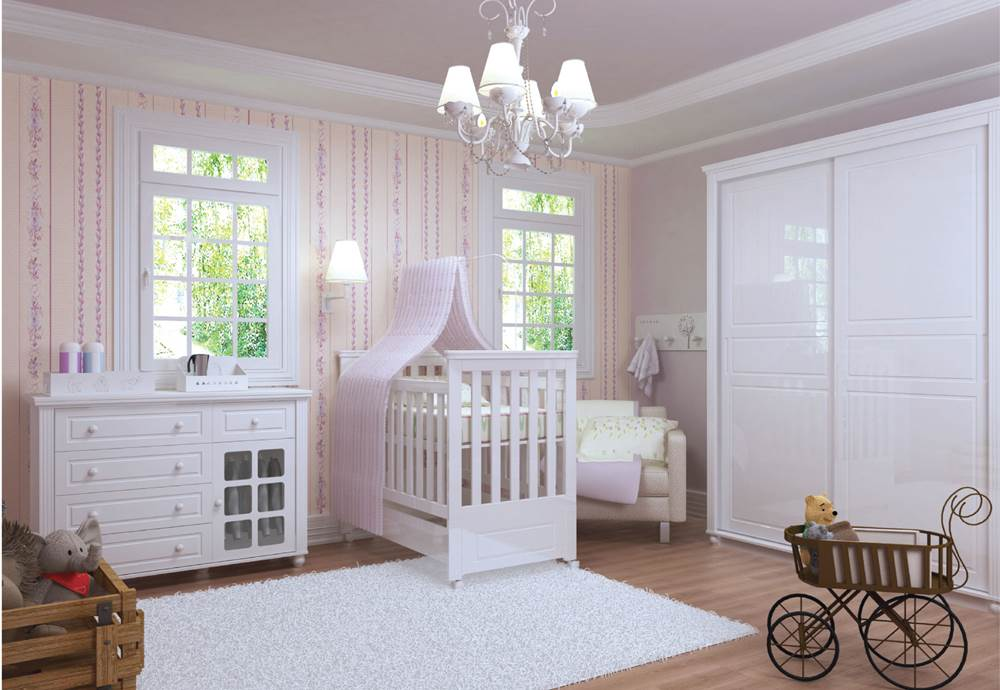 Linha Tata - Quarto Completo - Tata Bebê - Ambiente Rosa