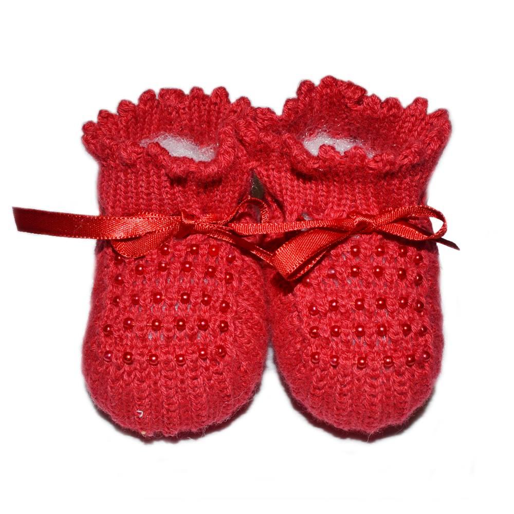 Sapatinho Tricot - Vermelho