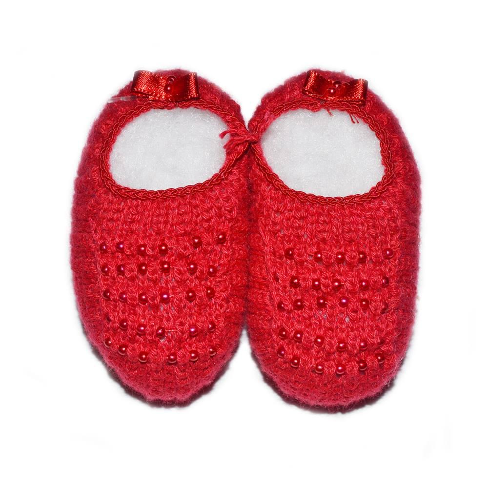 Sapatinho Tricot - Vermelho - Pequeno