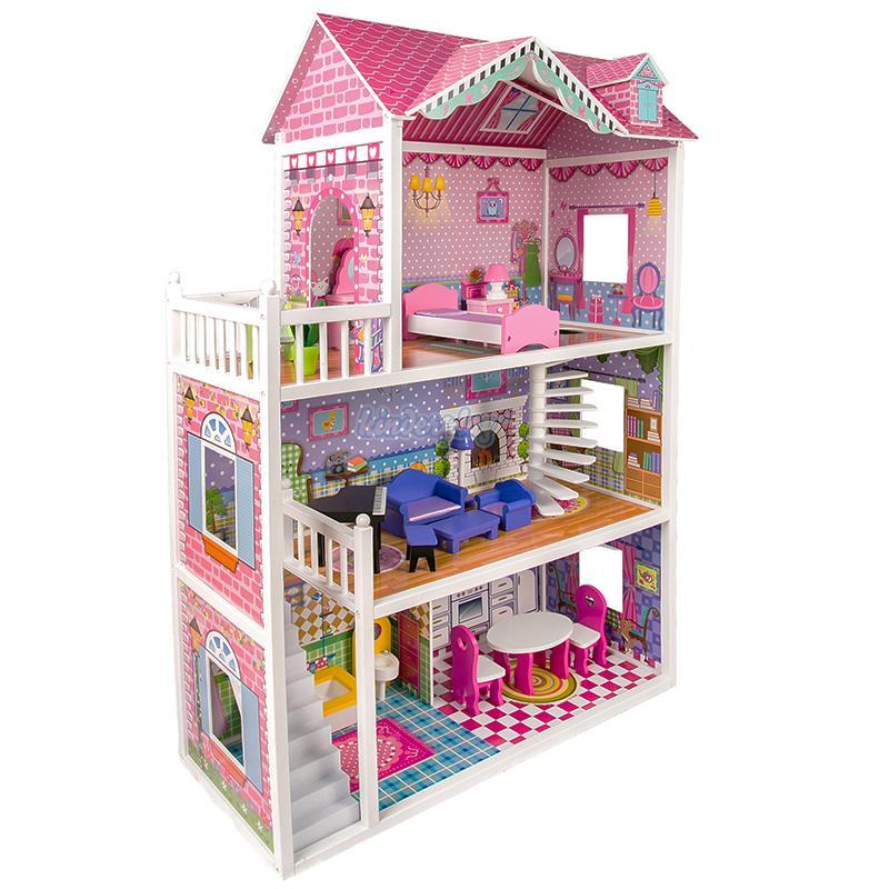 Casinha de Bonecas 3 andares mobiliada