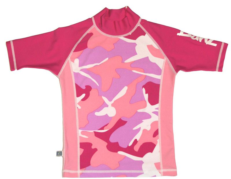 Camiseta para Banho Banz - Proteção UPF 50+ - Rosa Camuflado