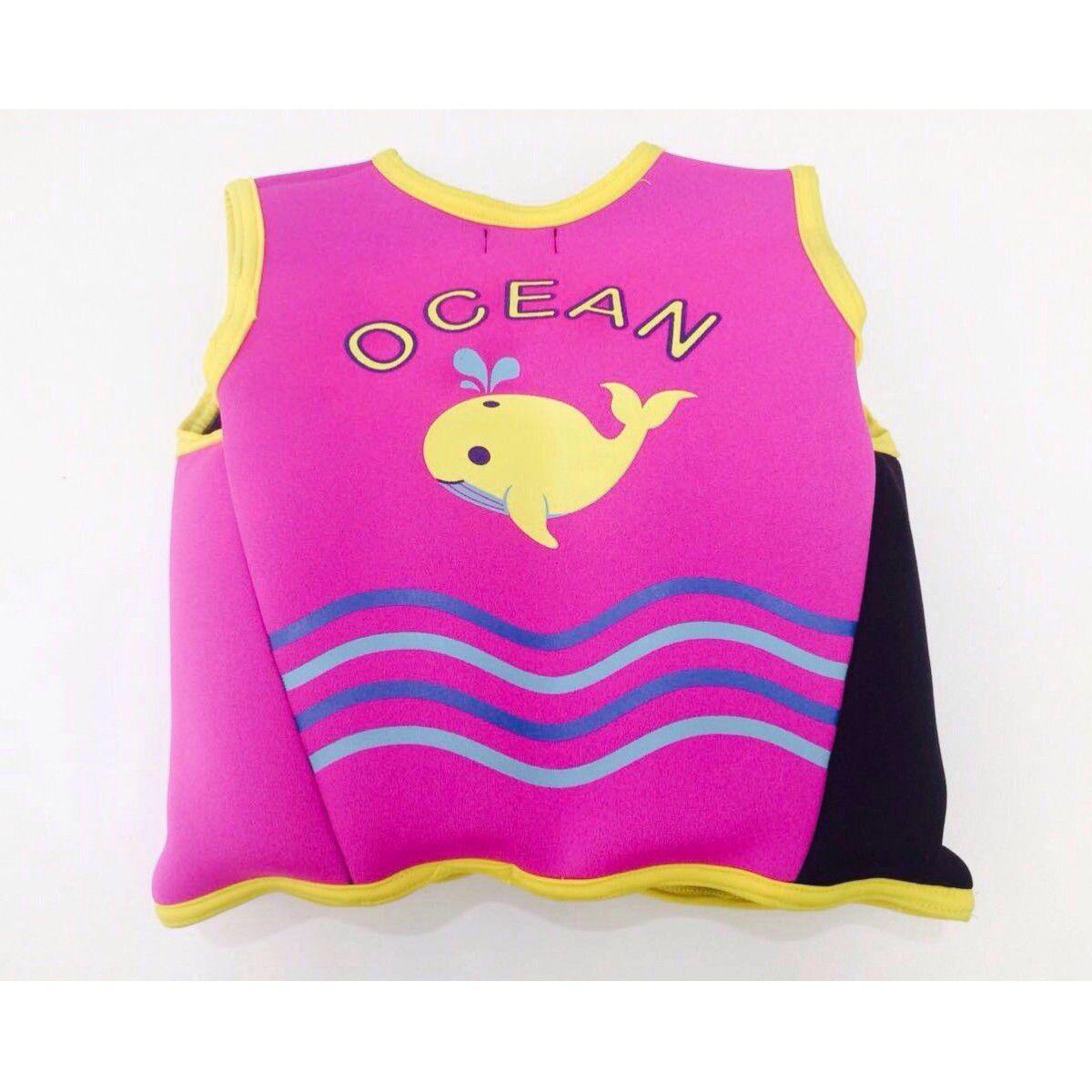 Colete de treinamentol para Natação - Neoprene Rosa - Ocean