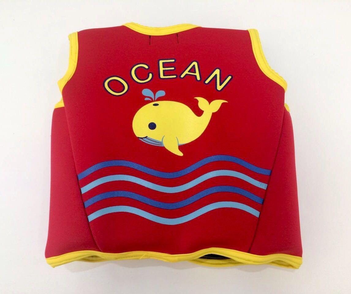 Colete Educacional para Natação - Neoprene Vermelho - Ocean