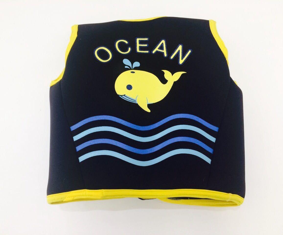 Colete de treinamento para Natação - Neoprene Preto - Ocean