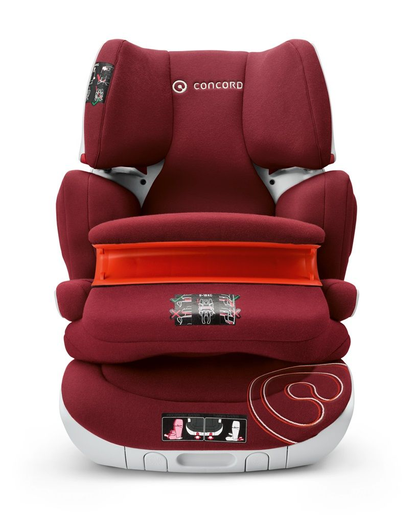 Cadeira Transformer XT Pro Bordeaux - 9 à 36 Kg - Isofix - Concord