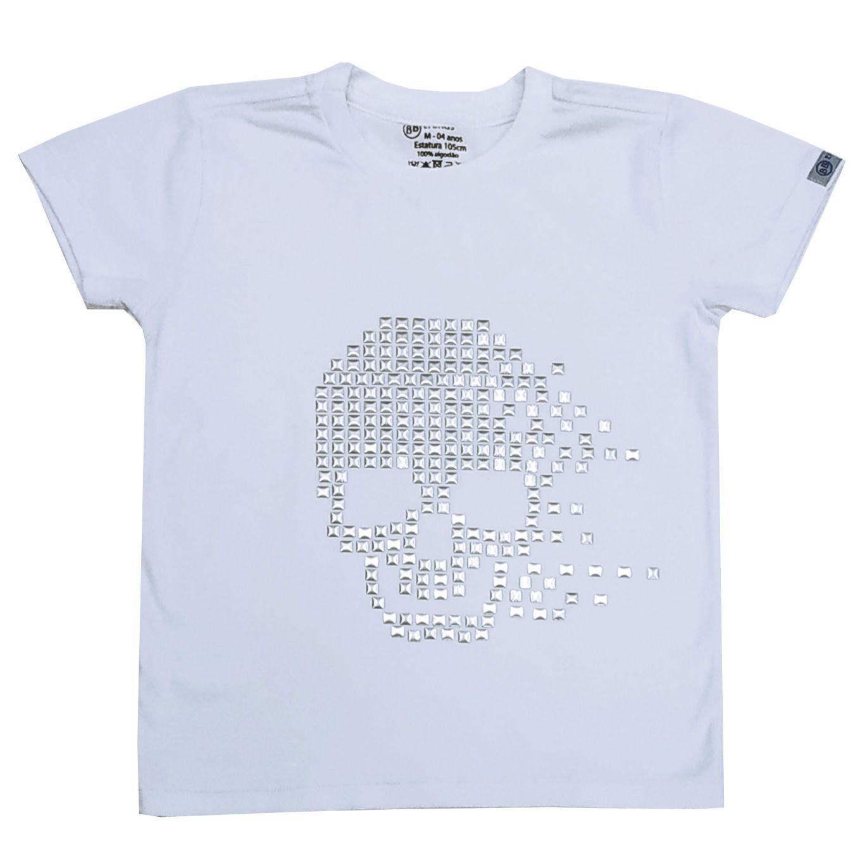 Camiseta Funny Caveira Branco