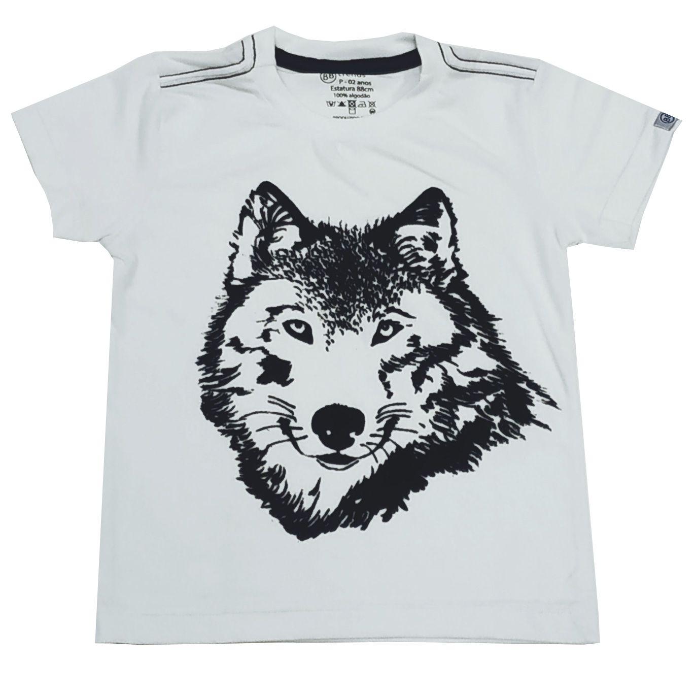 Camiseta Funny Lobo Branca