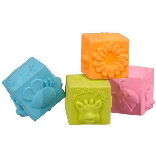 Cubos So Pure Sophie la girafe - 4 Cubos Coloridos