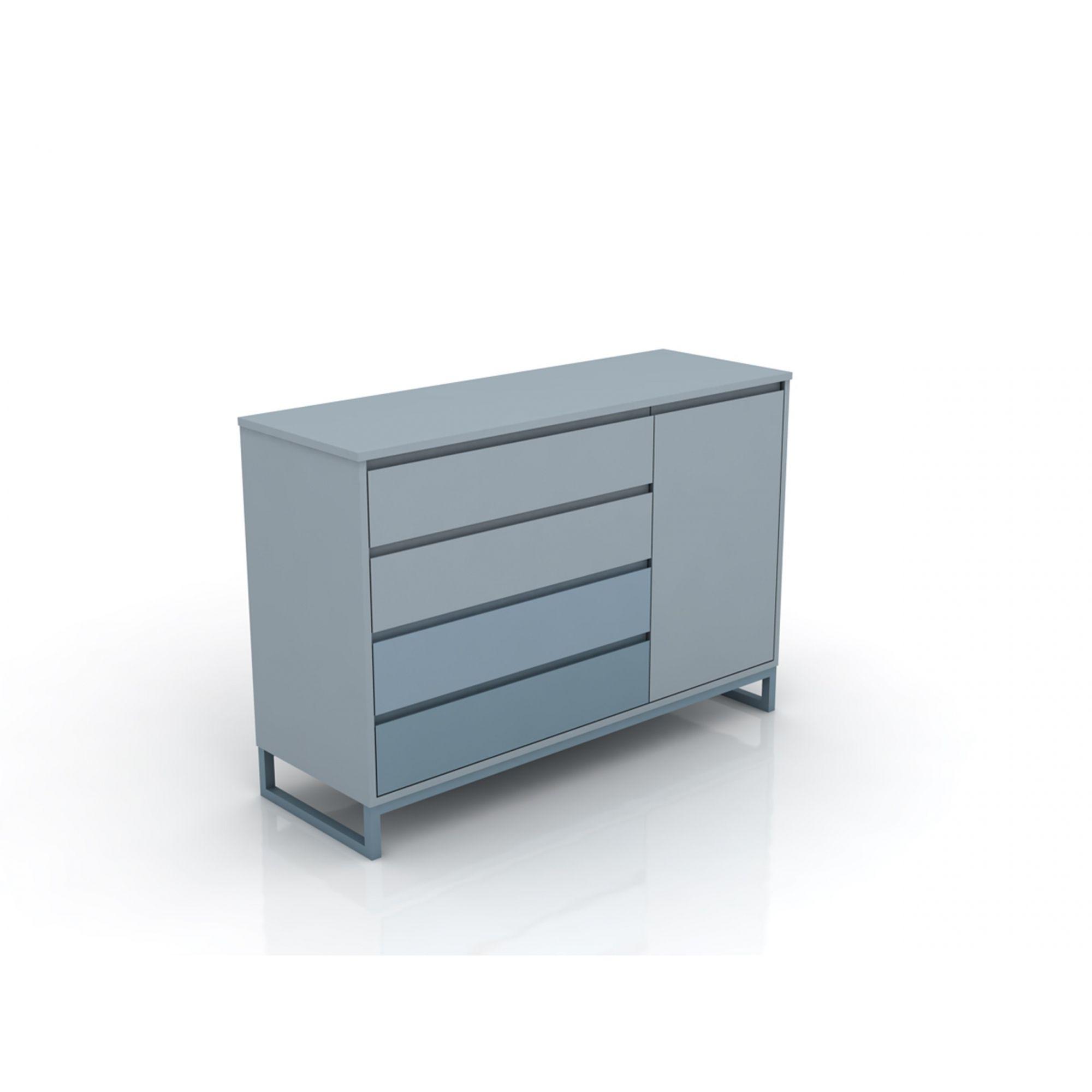 Linha Allegra - Cômoda Com Porta Azul