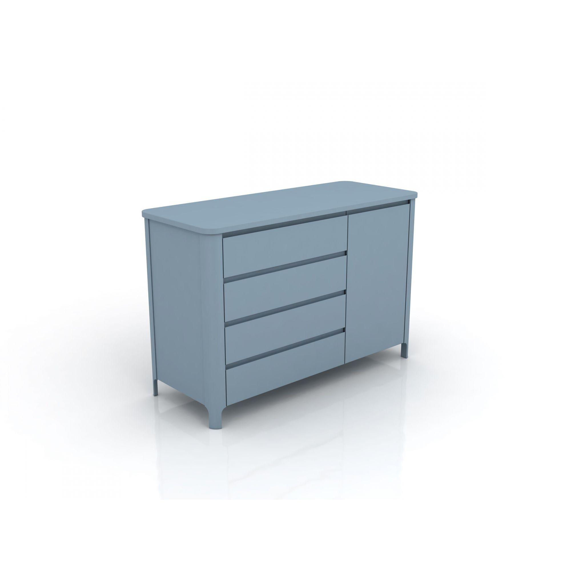 Linha Bloom - Cômoda Com Porta Azul 4169