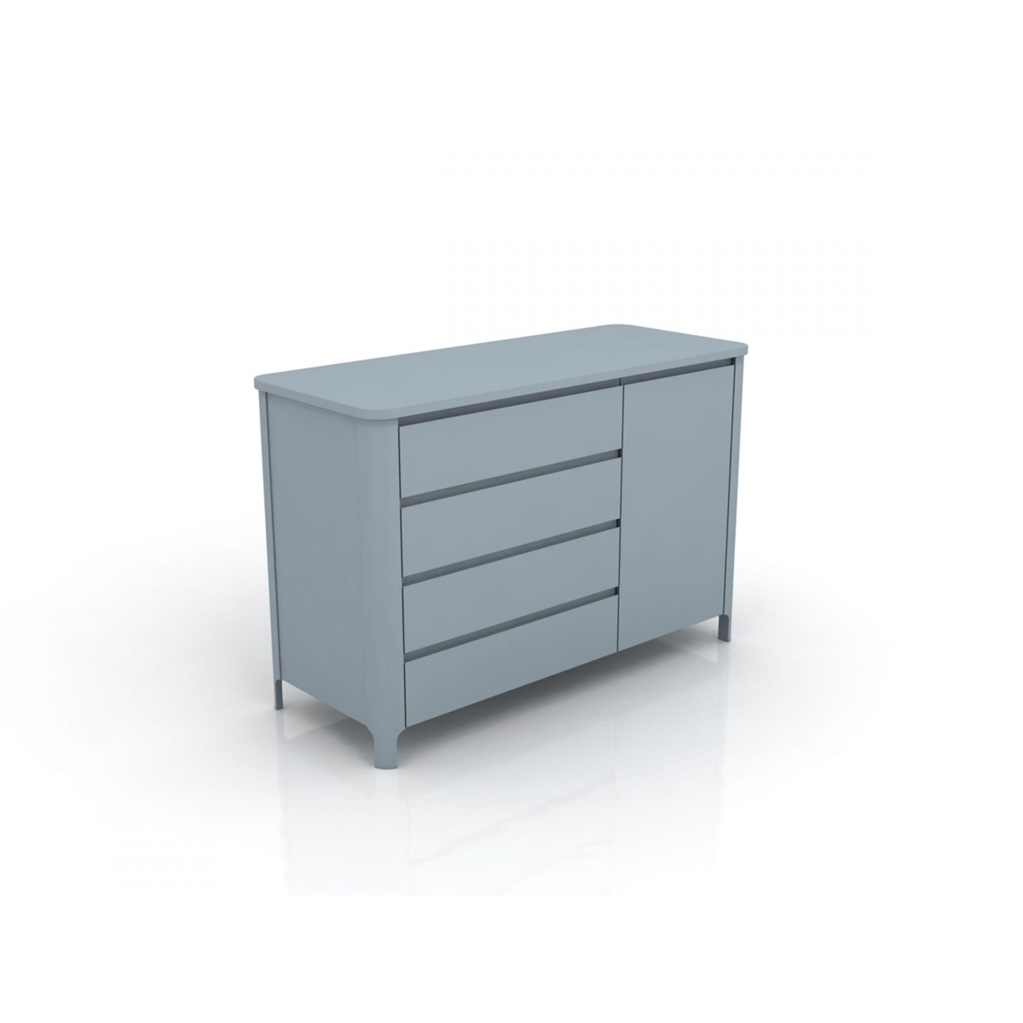 Linha Bloom - Cômoda Com Porta Azul 4170