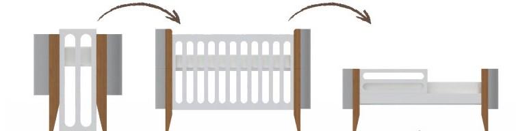 Linha Bo.  - Kit para transformar Berço em Mini Cama Kids