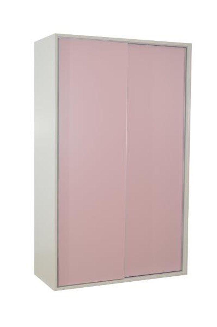 Linha Retro Colorido  - Armário Branco com Rosa