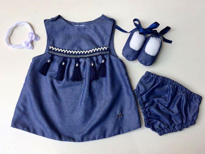 Vestido Anabel - Jeans - Com Faixa