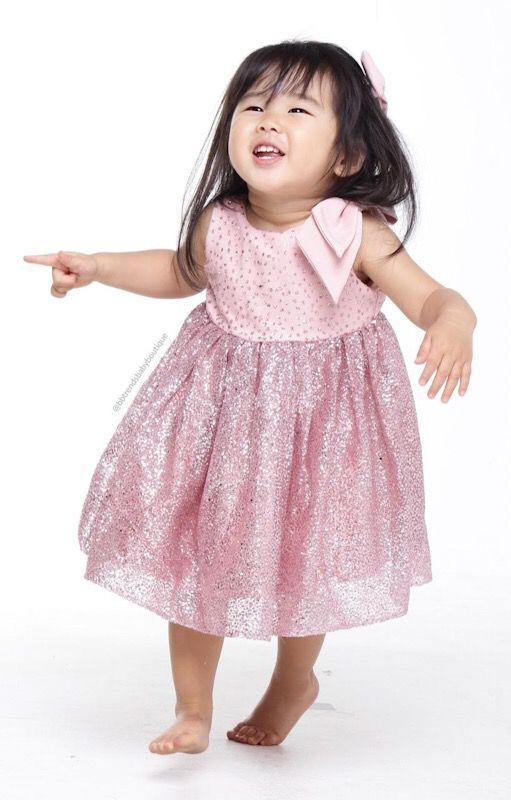 Vestido Chanel - Laço Glitter Rosé