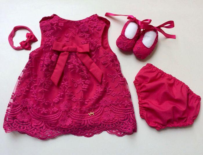 Vestido Grace Renda - Pink - Com Faixa