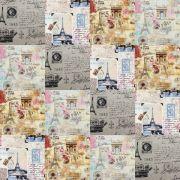 Adesivo para Azulejo 15x15cm Patchwork Estilizado 16 peças Cosi Dimora