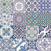 Adesivo para Azulejo 15x15cm Português Mosaico 16 peças Cosi Dimora
