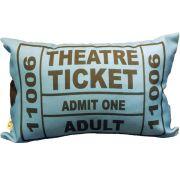 Capa de Almofada Theatre Ticket Azul Cosi Dimora