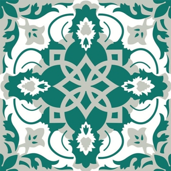 Adesivo para Azulejo Portugu�s Art�stico 16 pe�as