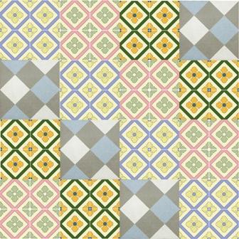 Adesivo para Azulejo 15x15cm Ladrilho Hidráulico Mosaico 16 peças Cosi Dimora