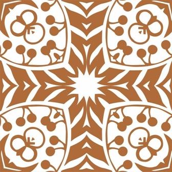 Adesivo para Azulejo 15x15cm Retrô Estampado 16 peças Cosi Dimora