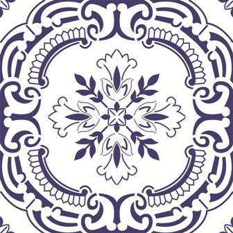 Adesivo para Azulejo 15x15cm Português Estilizado 16 peças Cosi Dimora