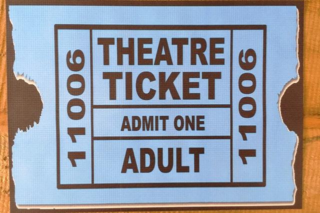 Jogo Americano Emborrachado Theatre Ticket 4 peças Cosi Dimora