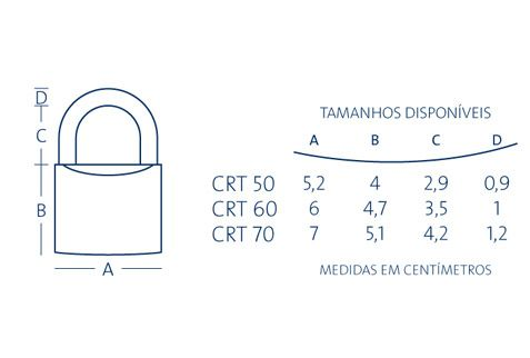 Cadeado Papaiz Tetra - 60 CRT - 12600