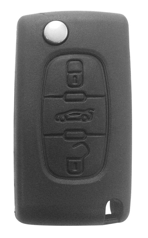 Chave Canivete Citroen 3 botões - 18459
