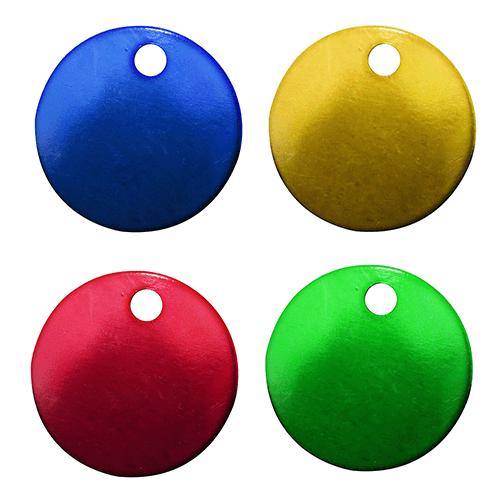 Etiqueta de Alumínio Redonda Colorida 30mm Pct C/ 12- 71756