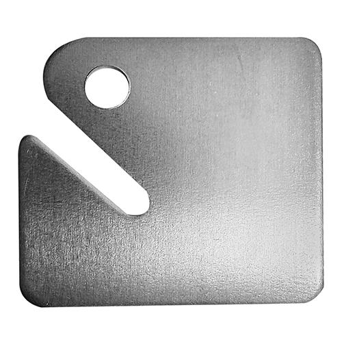Etiqueta de Alumínio Quadrada 38x42mm Pacote com 12 - 71760