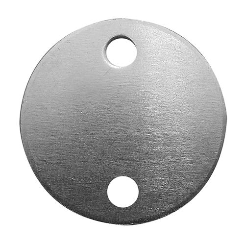 Etiqueta de Alumínio Redonda 2 Furos 51mm Pacote com 12 - 71763