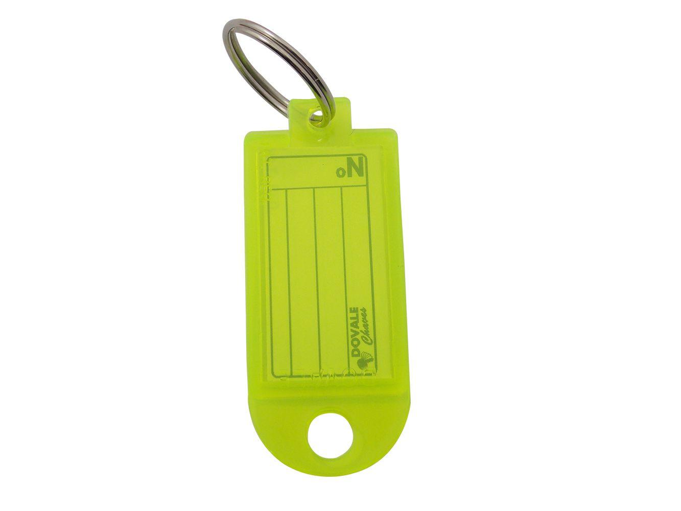 Etiqueta Dovale Amarelo Fluorescente - Refil C/ 50 - 79229
