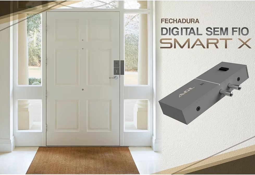 Fechadura Digital AGL S/ Fio Smart X - 40056