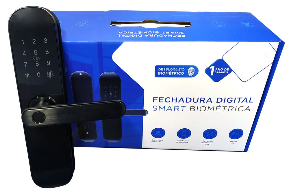 Fechadura Digital Smart Biométrica LFE-02 - 42103