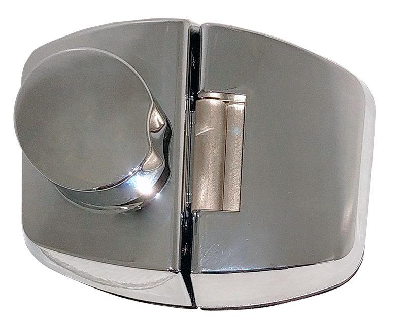 Fechadura Elétrica Dovale P/ Porta de Vidro D12 Cromado - 45012