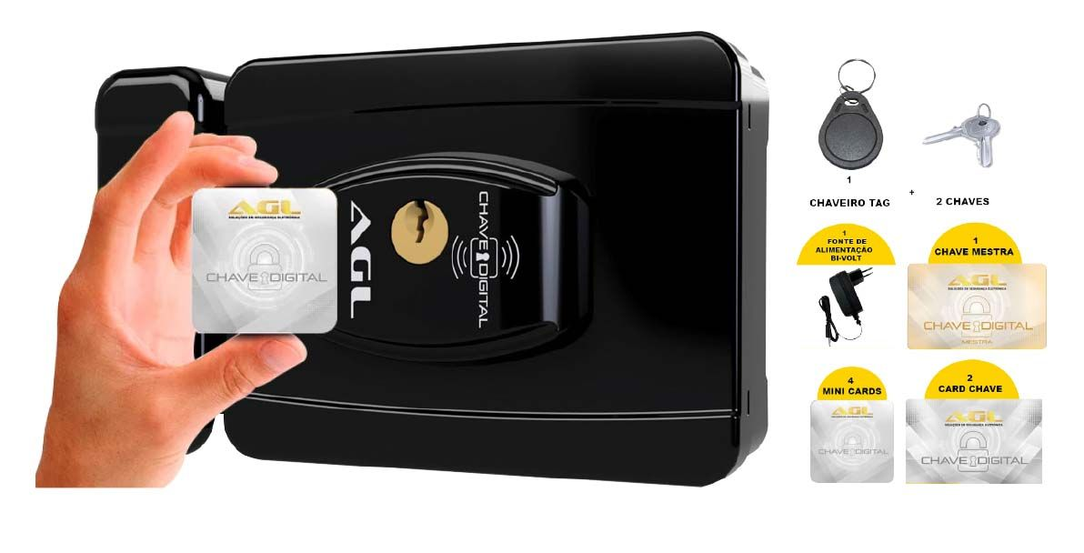 Fechadura Eletrônica AGL Smart Card - 40050