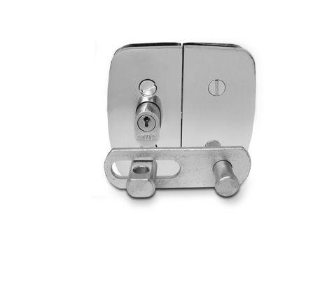 Porta Cadeado P/ Porta de Vidro Zincada Pequena - 11224
