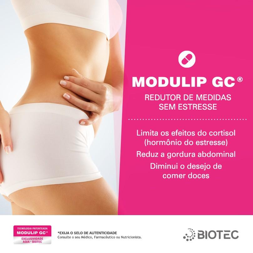 Modulip GC 100mg + Green Coffe 300mg + Picolinato de cromo 200mcg Formulação destinada para quem tem a vida estressada e mesmo fazendo dieta não consegue perder peso.