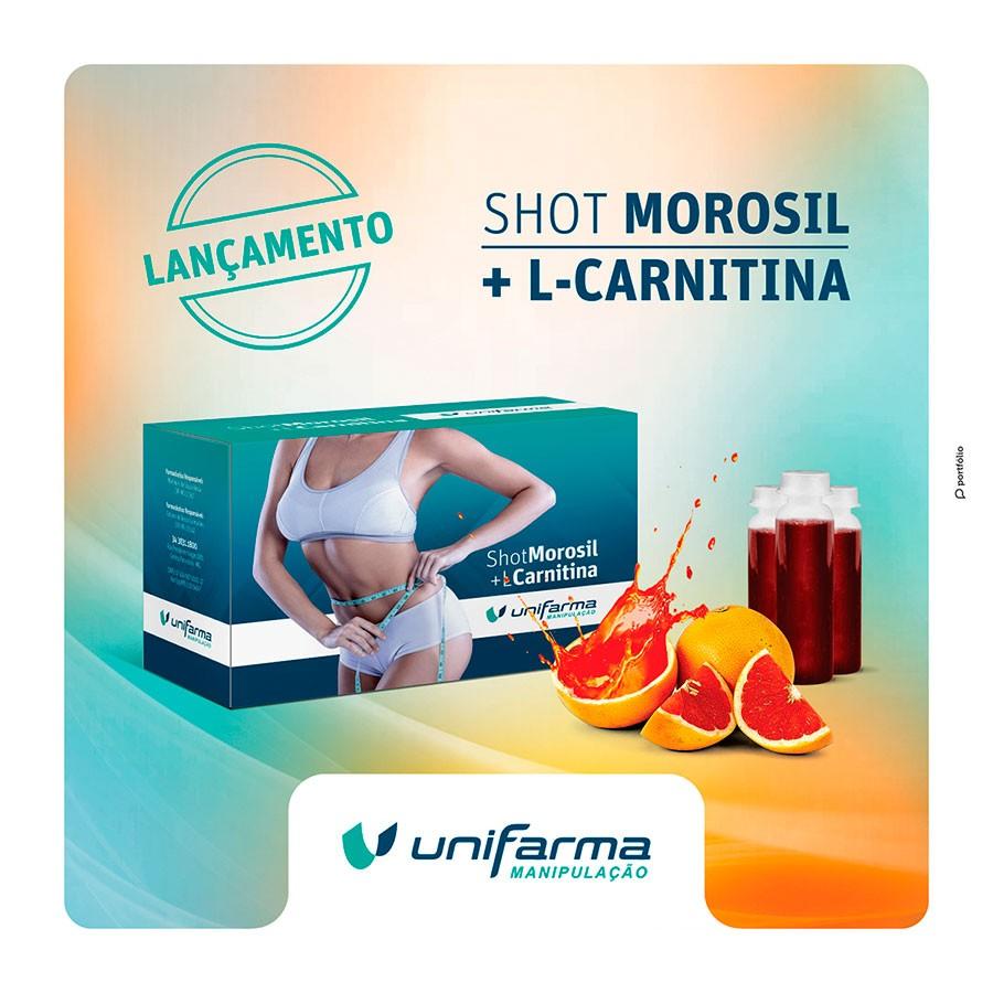 SHOT MOROSIL + L-CARNITINA (30 SHOTS)  Nunca foi tão fácil conquistar a barriga perfeita, conheça nosso shot de morosil + l-carnitina.